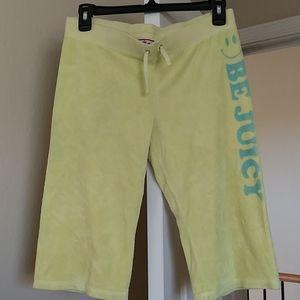 Juicy Couture Girls yellow terry Capri pants